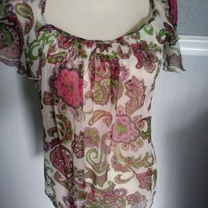 Semi sheer top by Fire Pos Angeles Sz L